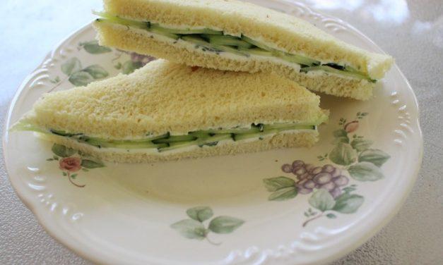 Radish Microgreens English Tea Sandwiches